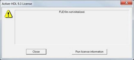FLEXlm not initialized